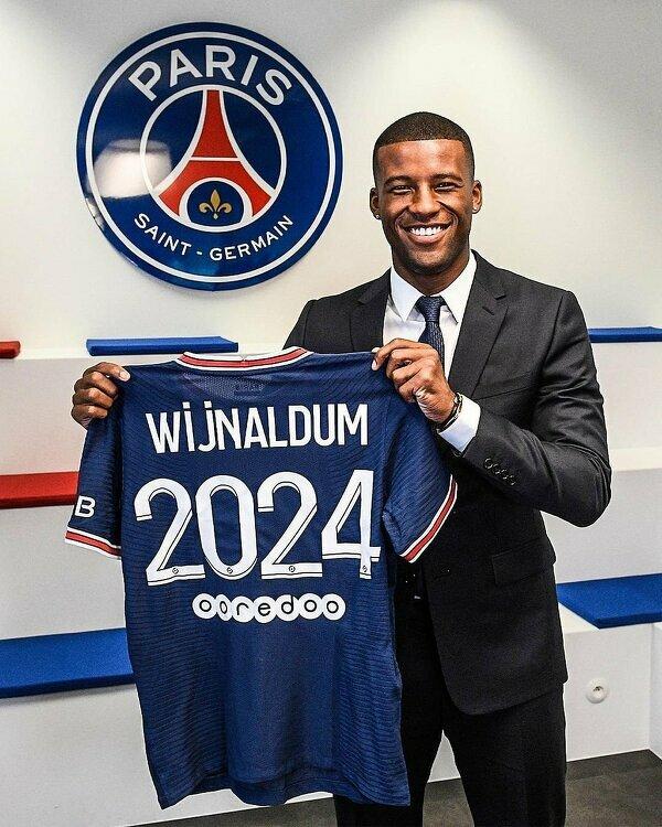 Wijnaldum został zaprezentowany jako nowy piłkarz PSG