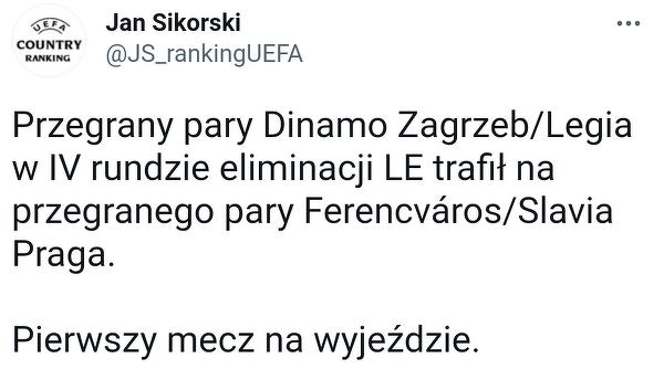 Legia poznała potencjalnego rywala o Ligę Europy w przypadku odpadnięcia z el. LM
